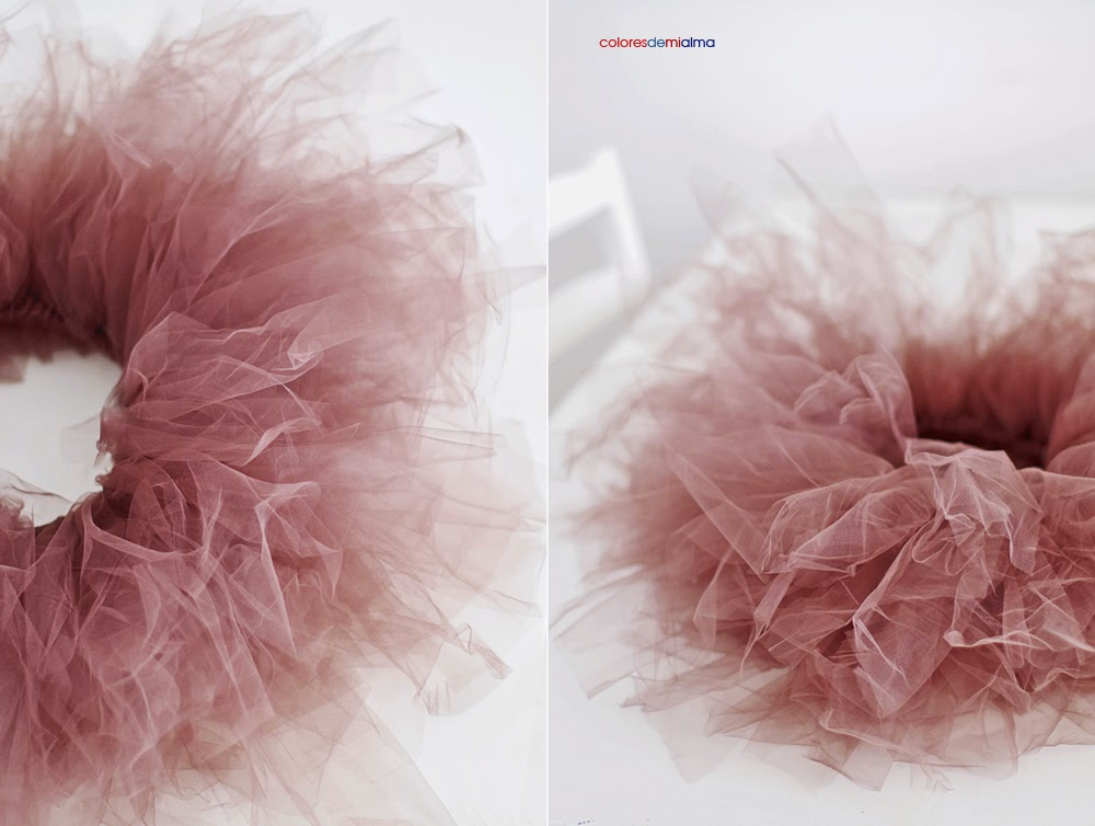 569c844a spódnica tiulowa bez szycia DIY - Colores de mi alma