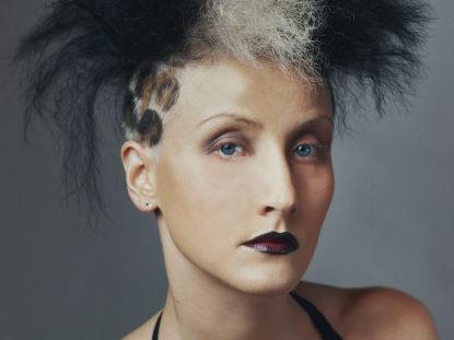 fotografia, kobieta, portret, sesja fryzjerska