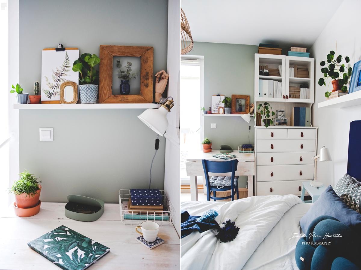 coloresdemialma,skandynawskie wnętrze, boho wnętrze, kolor we wnętrzu, biała sypialnia, rośliny we wnętrzu
