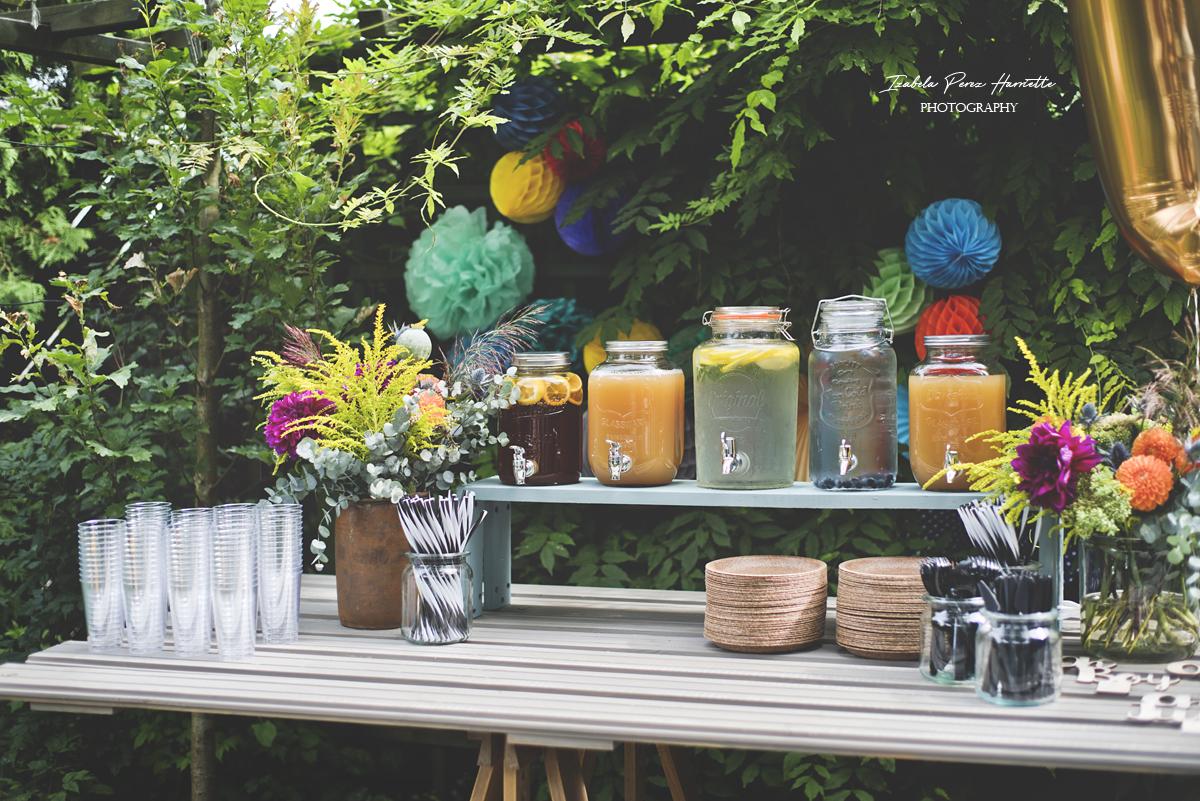 przyjęcie w ogrodzie, bufet, pierwsze urodziny, garden party,kids party, honey comb