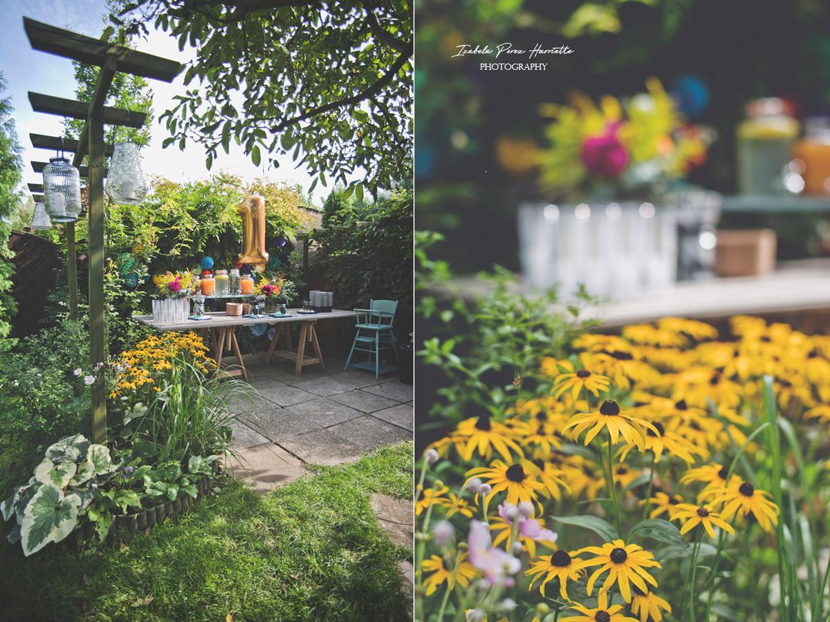 przyjęcie w ogrodzie, bufet, pierwsze urodziny, garden party,kids party, lampiony, kwiaty