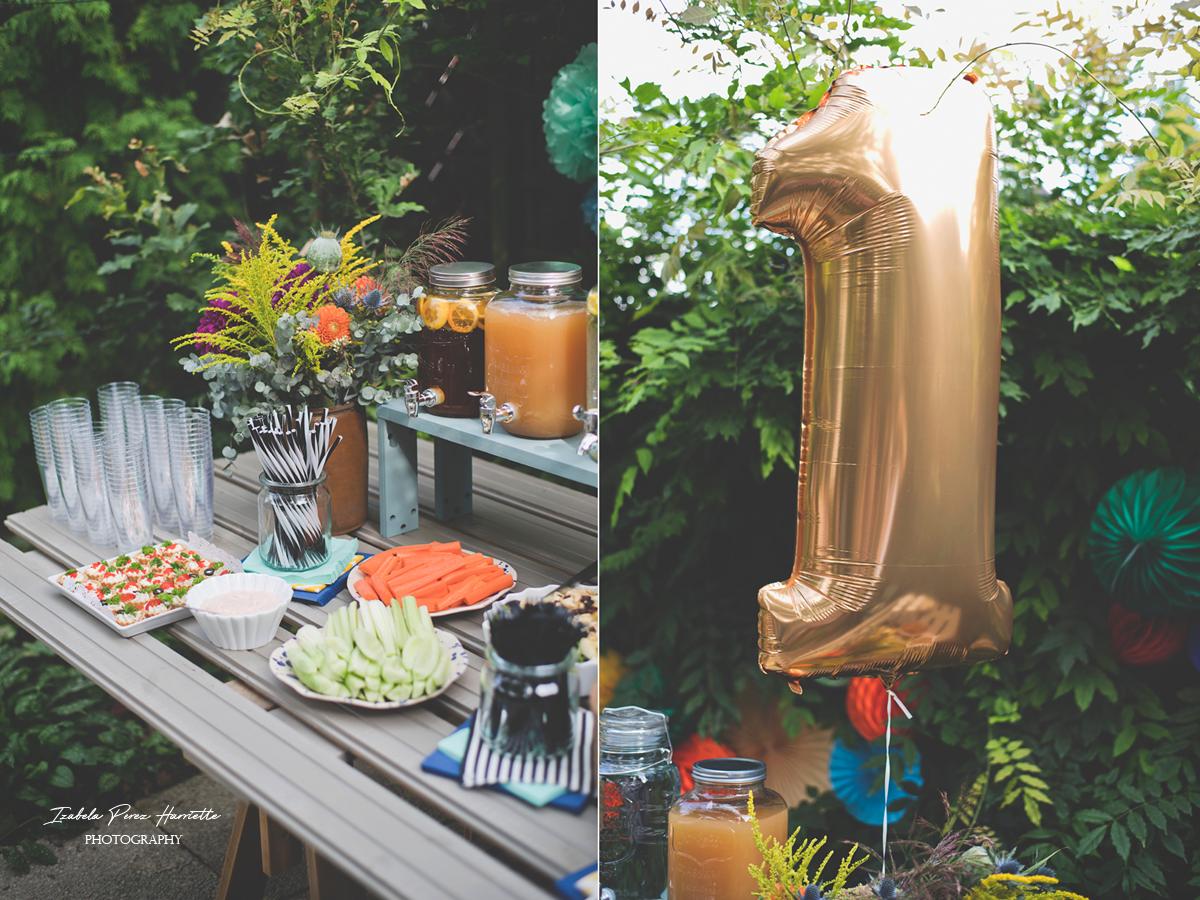 przyjęcie w ogrodzie, bufet, pierwsze urodziny, garden party,kids party