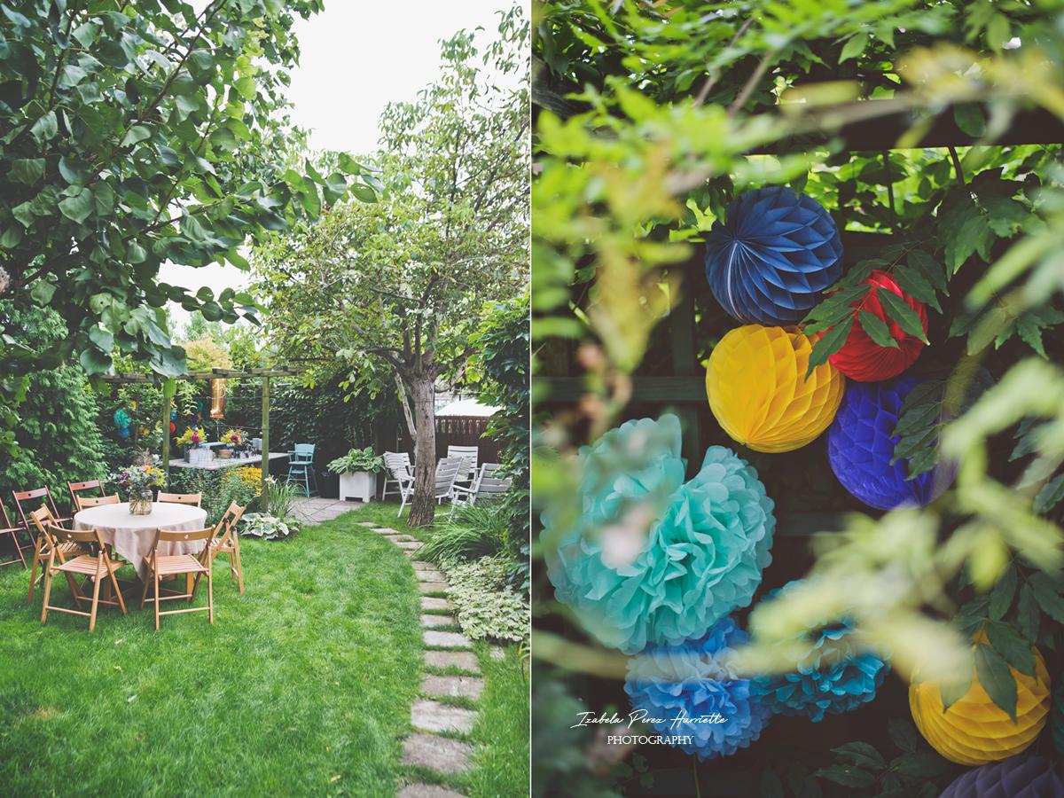 przyjęcie w ogrodzie, bufet, pierwsze urodziny, garden party,kids party, honey comb, secret garden
