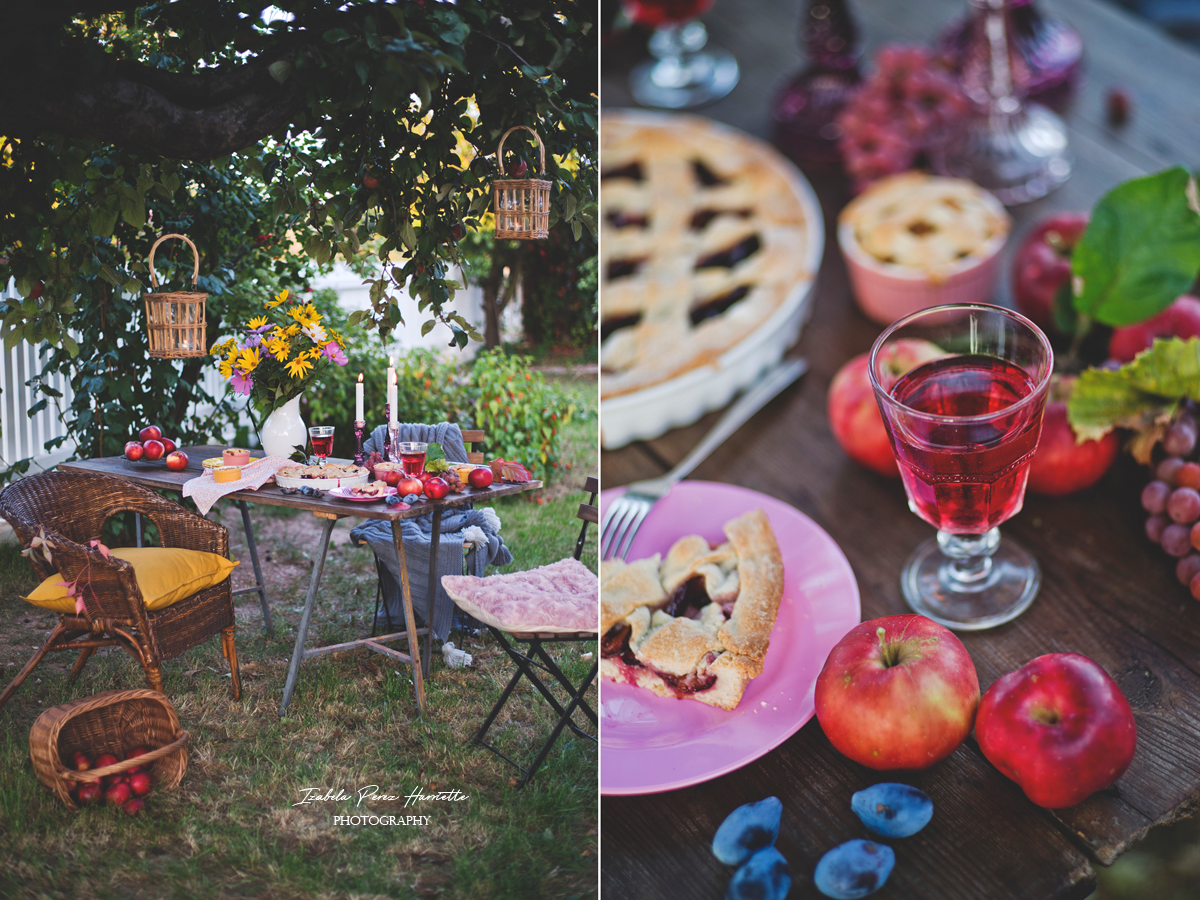 autumn decor, outdoor party autumn , apple pie, country side ,dobre strony jesieni