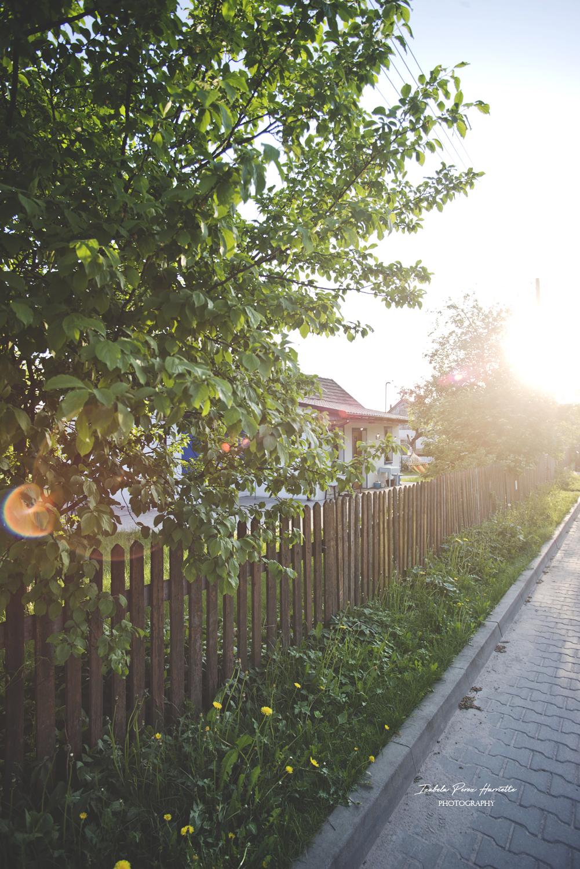 zachód słońca, polska wieś