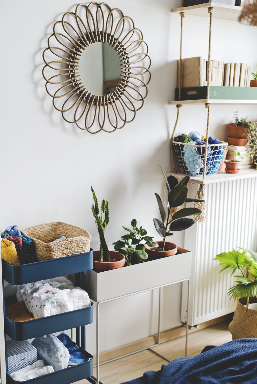 plantbox, rośliny w domu, house plants , boho mirror