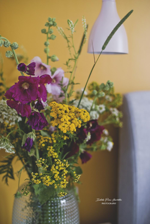 polne kwiaty, bukiet, malwy