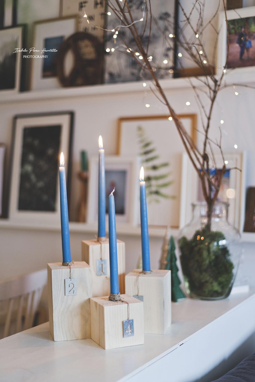 wieniec adwentowy, świecznik adwentowy, drewniane świeczniki, adwent, boże narodzenie, DIY, zrób to sam, świąteczne dekoracje