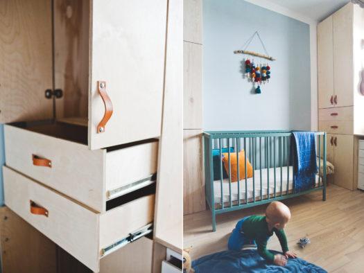 szafa ze sklejki DIY, szafa na wymiar, zrób to sam, meble ze sklejki, szafa w pokoju dziecięcym, pokój chłopców, samodzielnie wykonane meble, duża szafa